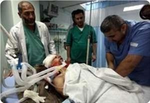 Photo of Palestinian youth in coma after zionist forces bullet hit him in the head