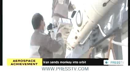 iran send monkey to space