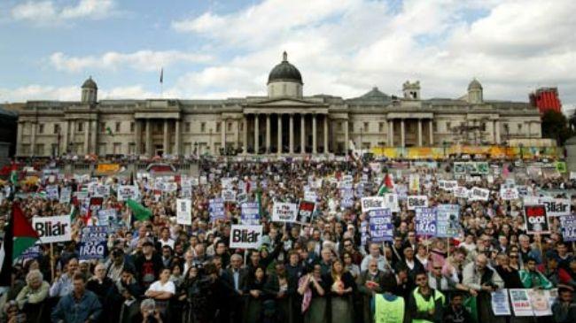 Photo of Anti-war rally at Dowming Street slams UK warmongering