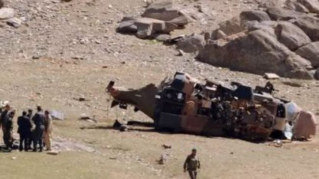 Photo of US-led helicopter crashes in Afghanistan