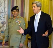 Pakistan's army chief meets john Kerry in Jordan