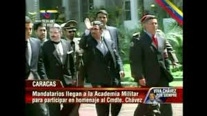 ahmedinejat at the chavez's funeral