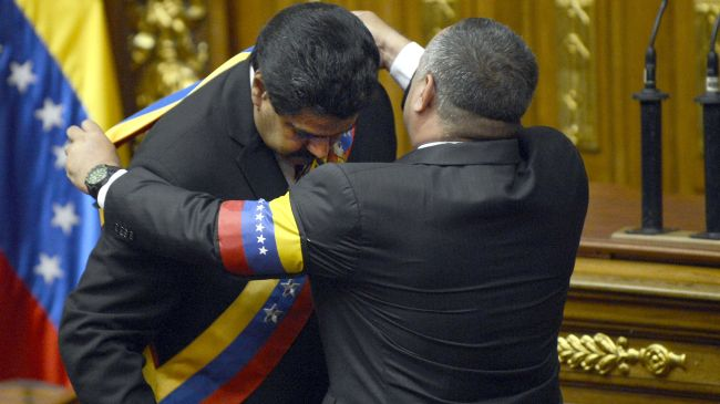 Photo of Maduro sworn in as acting president of Venezuela