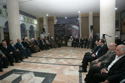 Photo of Assembly of Muslim Scholars Holds Memorial for Martyr Sheikh al-Bouti