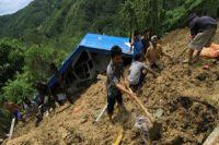 landslide on Indonesia's Java Island