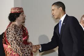 qaddafi with US.