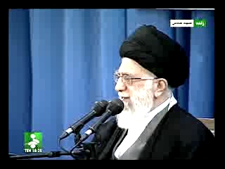 Photo of Video- Imam Khamenei gave a speech at Imam Reza (a.s) Shrine