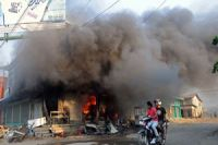 Photo of 43 houses, a mosque burned in fresh wave of violence in Myanmar: Officials