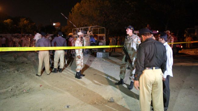 Photo of Karachi blast kills four security officers