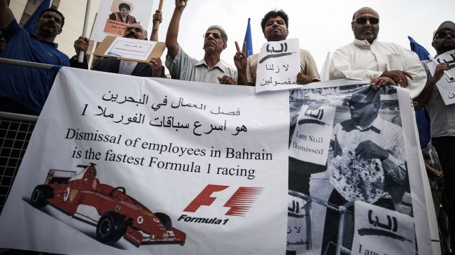 Formula One sponsors to limit activities in Bahrain