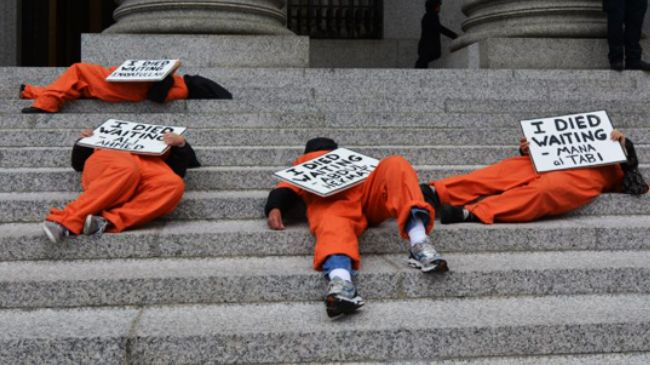 Four Guantanamo hunger strikers reported in critical condition