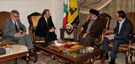 Photo of Sayyed Nasrallah Held Talks with Bogdanov on Developments in Lebanon, Syria