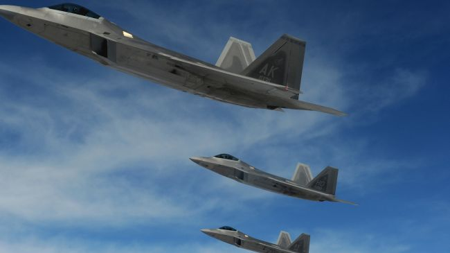 Photo of US F-22 stealth fighters sent to join S Korea maneuvers