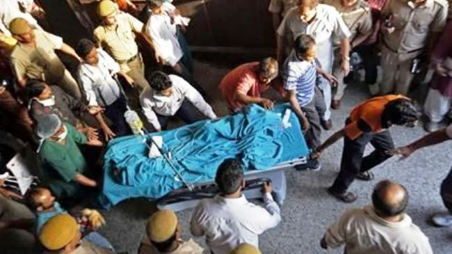 Photo of Indian rape victim fighting for life