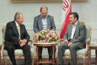 Ahmadinejad receives former Lebanese president