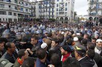 Algeria police clash with job protesters