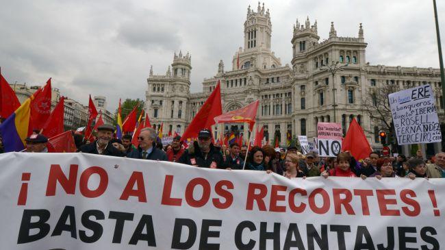 Photo of Spaniards hold mass anti-austerity demos