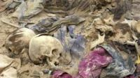 Photo of The Freedom of U.S- Three mass graves uncovered in Iraq  containing the bodies of about 1,000 people killed by US soldiers
