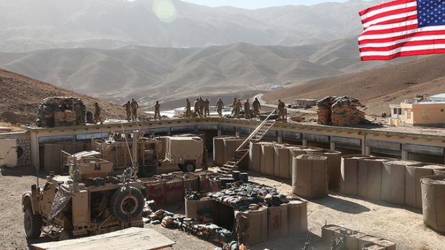 Photo of Great Satan US building military base in Afghanistan near Iran border