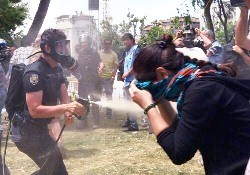 Photo of Protesters blinded, killed by police attack in Turkey