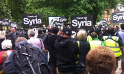 Photo of Anti-War Groups Rally against US arms to Syria