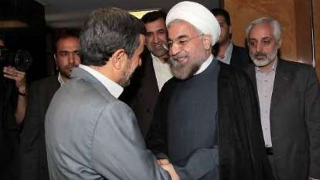 Photo of Ahmadinejad, Rouhani to Cooperate for the Success of New Government