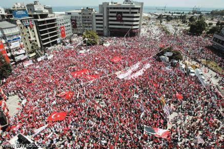 Photo of Hundred of Thousands gathering in Turkey's Taksim