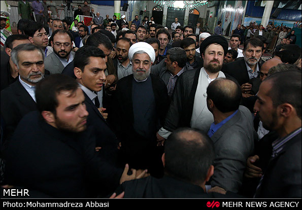 Photo of Photo-Rouhani in Holy Shrine of Imam Khomeini