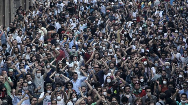Photo of Thousands of Turkish protesters reoccupy Istanbul's Taksim Square