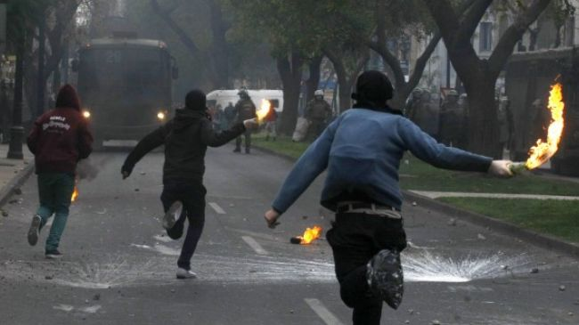 Photo of Massive student protest rally in Chile capital turns violent