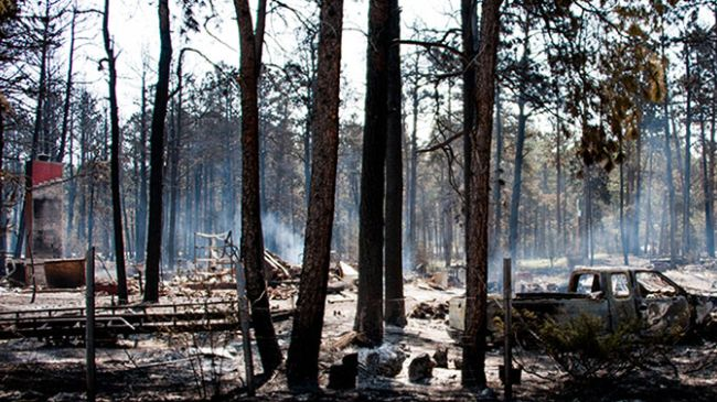 Photo of Raging Colorado Springs wildfire kills two