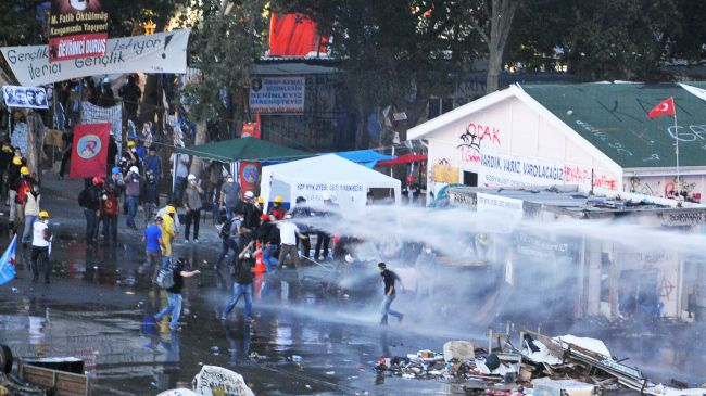 Photo of Riot police attack protesters in Taksim Square
