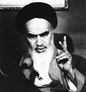 "Photo of Imam Khomeini r.a: ""The Quds Day is a proper day on which all Muslims be freed from the bondage of the Big Satan (Great Devil, USA)…"""