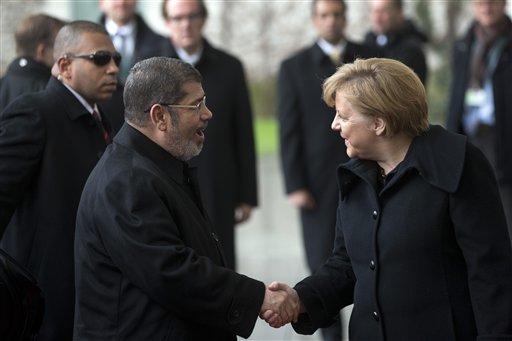 Mohammed Morsi, Angela Merkel