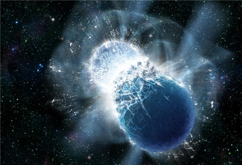 Earth's Gold Comes from Colliding Dead Stars