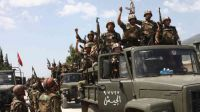 Syria army marches on near Damascus
