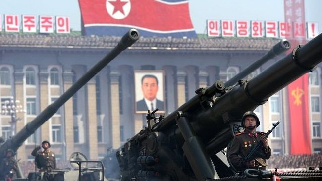Photo of N Korea mobilizes missiles for parade