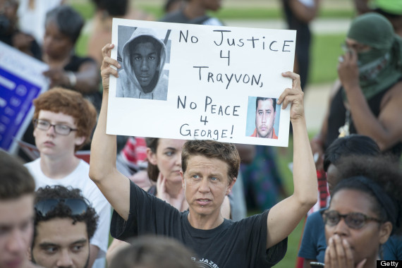 Supporters rally for Trayvon Martin at Howard University.