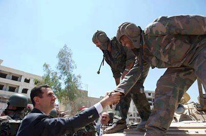 Photo of Photo- President Al-Assad with the Armed Forces on the Army's Day