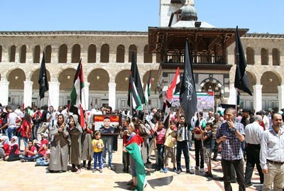 Photo of Event on International al-Quds Day held at Umayyad Mosque in Syria