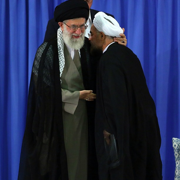 Photo of Photo- Dr. Hassan ‪Rouhani‬'s ‪inauguration‬ ceremony and his formal endorsement by Imam ‎Khamenei‬