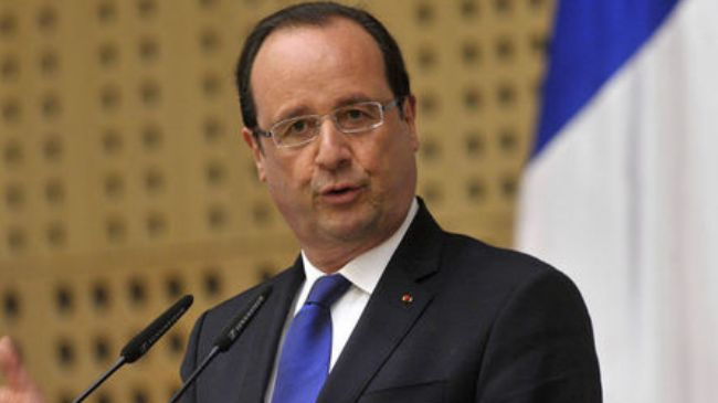 Photo of Hollande called on Zionist Puppets S. Arabia and Qatar to help find a peaceful(?) solution to the worsening political crisis in Egypt