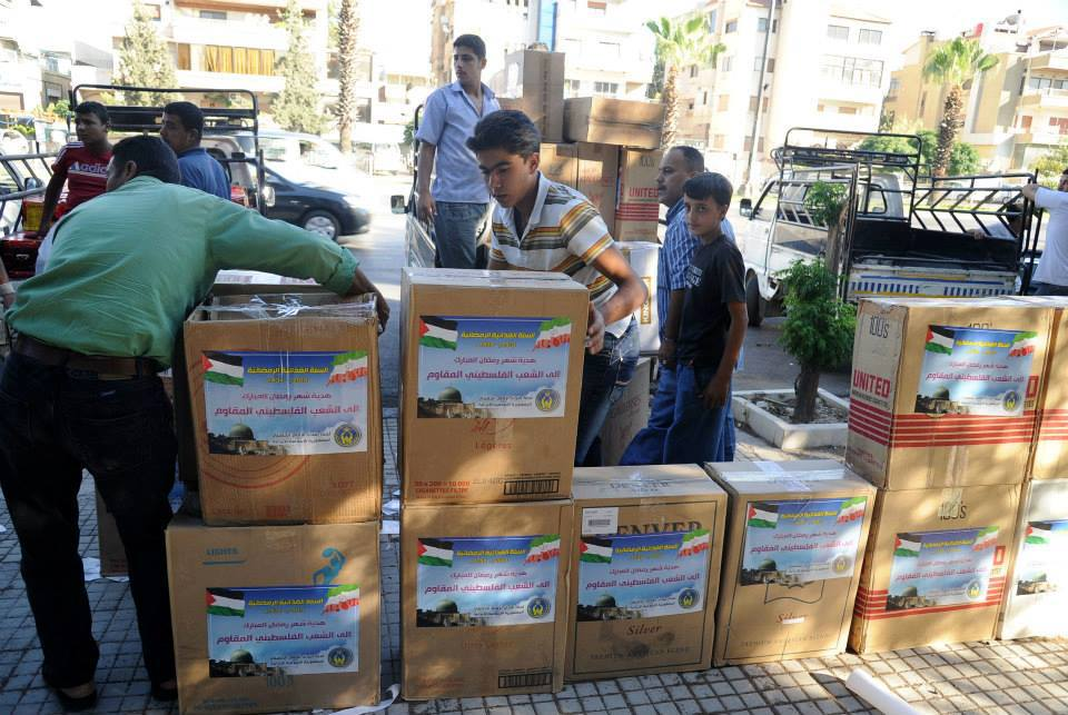 Photo of Photo- Iranian campaign launch aid for the displaced Palestinians from the Palestinian refugee camps in Syria