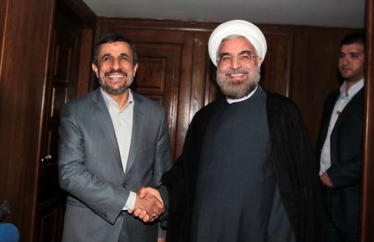 Rouhani_Ahmadinejad