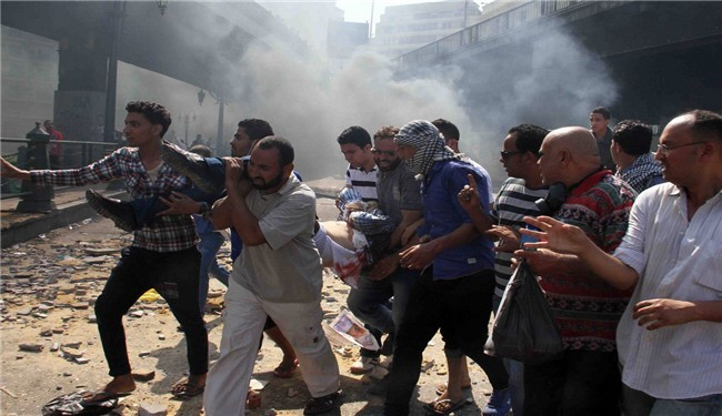 Photo of Al-Alam reporter targeted in Egypt clashes