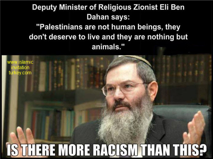 "Photo of Butcher DM of Religious Zionist: ""Palestinians are not human beings, they don't deserve to live and they are nothing but animals."""