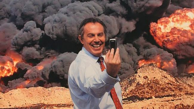 Photo of zionist butcher Tony: UK and US should invade Syria