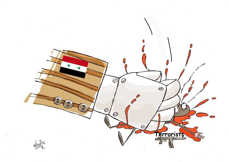 Photo of Caricature- Syria is Victorious over Terrorists