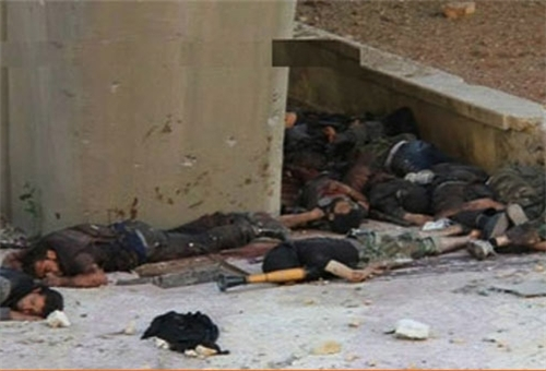 Photo of Several Al-Nusra Terrorists Killed in Syrian Army's Artillery Attack on Reef Damascus