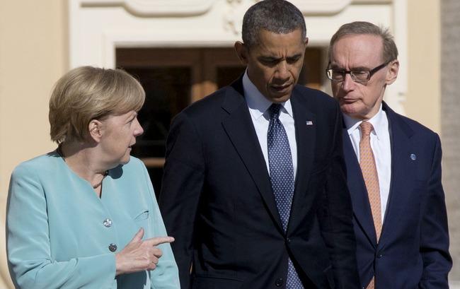 Barack Obama, Angela Merkel, Bob Carr